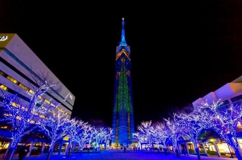 福岡タワークリスマスイルミネーション
