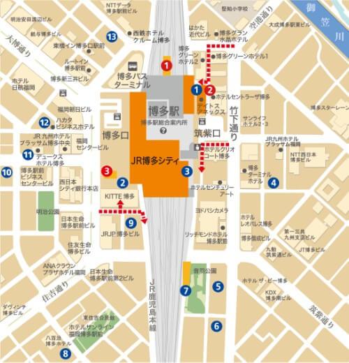 アミュプラザ博多提携駐車場地図