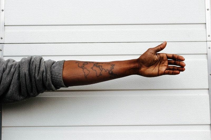 タトゥーどれくらいの大きさ