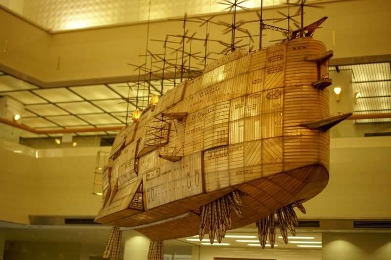 ジブリの大博覧会の飛行船(飛空挺)